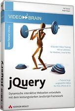 video2brain jQuery, 8 Stunden Video-Training auf DVD, NEU