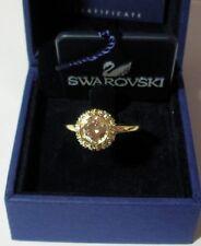 SWAROVSKI SILVER CRYSTAL JEWELERY FLIRT RING - SIZE 60 M.I.B 1023647 GOLD COLOUR