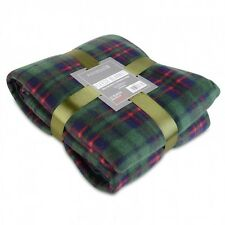 Super Soft Warm Green Fleece Blanket ideal for a bed or big enough for a sofa