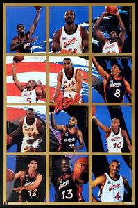 Team USA Basketball Atlanta 1996 Olympics DREAM TEAM 12-Player POSTER 23x35