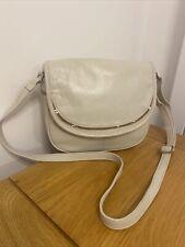 Gorgeous Clarks Crossbody Bag Tote Bag Handbag Messenger 100% Leather Ivory