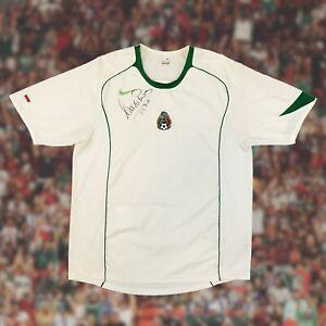 Mexico 2004/06 International Away Soccer Jersey Large Autograph Adolfo Rios Nike