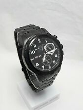 Fossil Men's Automatic Self Wind Black Steel Band Black Dial With Date ME3040