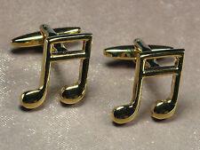 Men's Silver Tone Music Note Suit Cufflinks