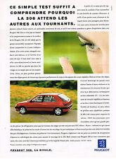 PUBLICITE ADVERTISING 025  1993  PEUGOT  306 LA RIVALE