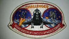 NASA CHALLENGER BRAND GIBSON MCNAIR STEWART EMBROIDERED SPACE SHUTTLE PATCH NOS