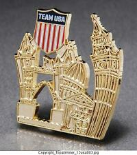 OLYMPIC PINS 2012 LONDON ENGLAND TEAM USA NOC GOLD ARTISTIC SKYLINE US LOGO