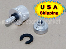 Chrome Aluminum Seat Mount Bolt Screw Cap Nut for Harley Davidson Mounting Seat