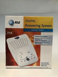 AT&T Digital Answering Machine Model #1718 White Complete