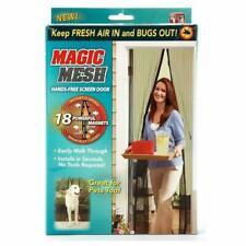 Magic MESH TENDA MAGNETICO Porta Fly Bug insetti rete di protezione schermo bianco
