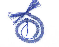 """Natural Tanzanite Gemstone 4-5 mm Rondelle Faceted Jewelry Beads 6"""" Half Strand."""