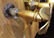 Brass Tub Shower Faucet Tap Plumeria Spigot Bathroom Vintage Water Home Decor