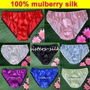 Damen 16 Momme 100% Seide Slips Bikinis Pantys Unterwäsche SU111 Ailisilk