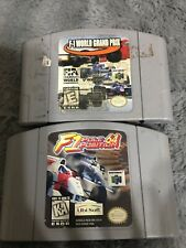 F-1 World Grand Prix  And F1 Pole Position 2 Game Lot (Nintendo 64, 1998)