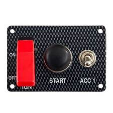 Grayston Carbon Effect Starter Switch Panel With Accessory Switch