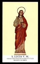 santino-holy card*S.LUCIA V.M.-REGGIO CALABRIA