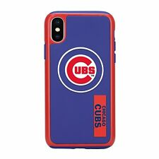For Apple iPhone X Chicago Cubs Dual Hybrid 2 Piece Protective Case MLB