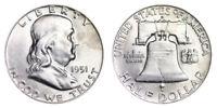 1951-D Franklin Half Dollar Brilliant Uncirculated- BU