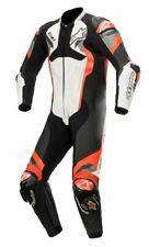 Alpinestars Atem v4 Leather 1 Pc WHITE BLACK RED FLUO Race Sport Motorcycle Suit