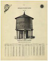 1895 PAPER AD 2 PG US Wind Engineering & Pump Co Water Tank Batavia Illinois
