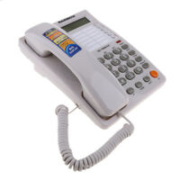 Caller ID Phone for wall or desk with Speaker and Time Date Display White