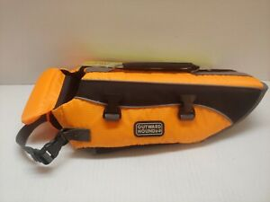 """New Outward Hound Life Jacket Float Orange Small Dogs 15-25lbs 19""""-24"""" girth"""