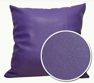 Pb313a Lilac Faux Leather Skin Soft PU Cushion Cover/Pillow Case *Custom Size*
