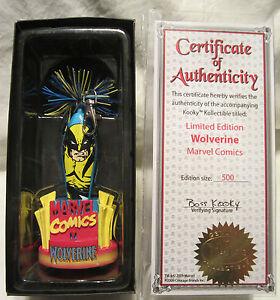 Kooky Kollectibles Marvel Comics Wolverine Limited Edition Pen 1 of 500 Case COA
