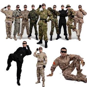 ACU Men Military Camo Tactical Suit Combat Airsoft Uniform Sets Jacket Pant BDU