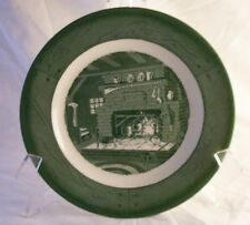 Royal USA Colonial Homestead Green Dinner Plates (4) 10""