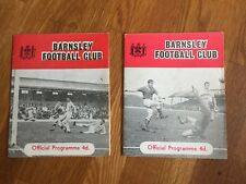 2 DIFFERENT COVER COPIES 63/64 Barnsley V Manchester United FA Cup  Programmes