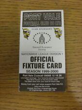 1999/2000 Port Vale: Accesorio oficial Folleto-cuatro páginas (con los resultados se indique).
