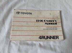 1990 Toyota 4Runner SUV Truck Owner's Manual Guide Book Japan