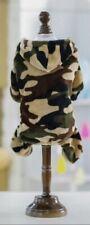 SOFT FLEECE DOG PUPPY GREEN ARMY CAMO PYJAMAS PLAY SUIT JUMPER HOODIE - FREE P&P