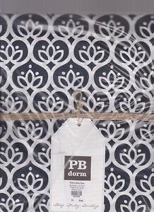 pottery barn Teen pb dorm Florette Duvet Black fits Twin & XL dorm mattresses