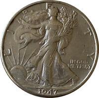 1947 Silver Walking Liberty Half Dollar Grading VF/XF