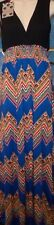 BEAUTIFUL BLUE & BLACK M MULTI COLOR FASHION SLEEVELESS *MAXI DRESS M NEW!!)