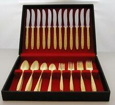 Cosmos Gold Verme Flatware, Service for 15, 111 Pieces, 16 Serving Pieces, Box