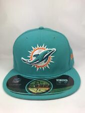 Miami Dolphins New Era NFL On Field 59Fifty Fitted Hat Aqua NWT 7 1/2