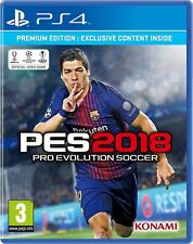 PES Pro Evolution Soccer 2018 Premium Edition Sony PlayStation 4 Ps4 Game