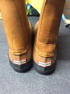 Tan Leather Hunter Wellies size 12 uk - NEW
