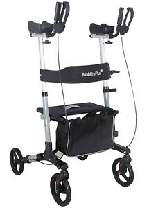 NEW MobilityPlus+ Upright Rollator Mobility Walker Lightweight with Arm Support