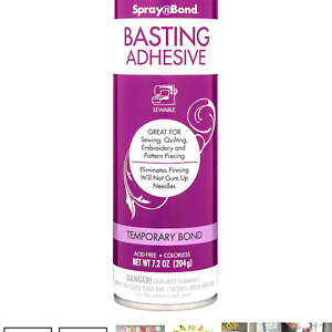 Therm O Web Spray N Bond Quilt Basting Adhesive Spray, 7.2 OZ (204g)