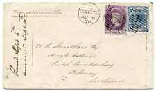 Ceylon, 1870 cover with 1d and 1/- to South Ronaldshay, Orkney, Isles