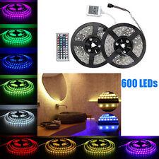 10M RGB 5050 LED Streifen Strip Band Leiste 600SMD 44Key Remote IR Transform 12V
