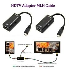 2 Micro USB to HDMI TV Out HDTV MHL Adapter Cable for Phones Tablet Fast Charger