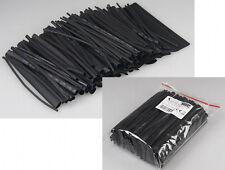 100-tlg Schrumpfschlauch Sortiment Set-Tüte Schrumpfschläuche schwarz