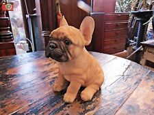 A FRENCH BULLDOG SITTING PUPPY FIGURE, HOME OR GARDEN, VIVID ARTS PET PALS