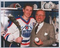 EXTREMELY RARE AUTHENTIC WAYNE GRETZKY & PETER POCKLINGTON AUTOGPAPH PICTURE