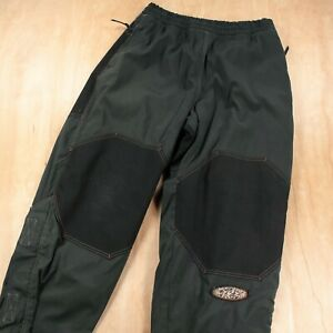 vtg 90s RUSTY thrashed nylon snowboarding pants LARGE faded patches baggy rave
